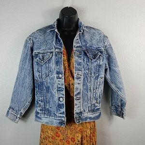 Vintage Levi's Acid Wash Trucker Denim Jean Jacket